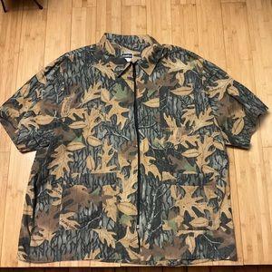 Vintage advantage camo zip up shirt